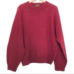 Vintage Eddie Bauer   100% Wool Crew Neck Sweater